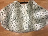 34th & Pine Luxury Polar Plush Faux Fur 52'' Christmas Tree Skirt - Snow Leopard