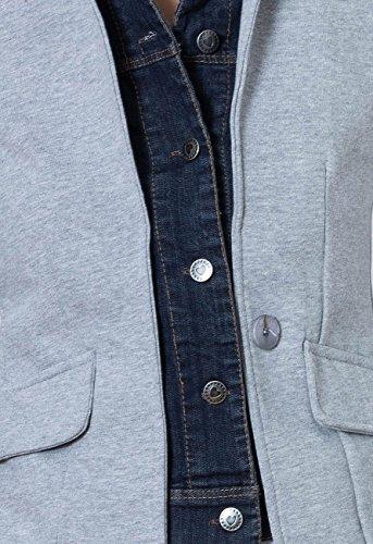 Jeans Caspar Coloris Avec Blazer Plusieurs Femme Pour Gris Vest En Jersey Col Bzr002 BRvwrB8q
