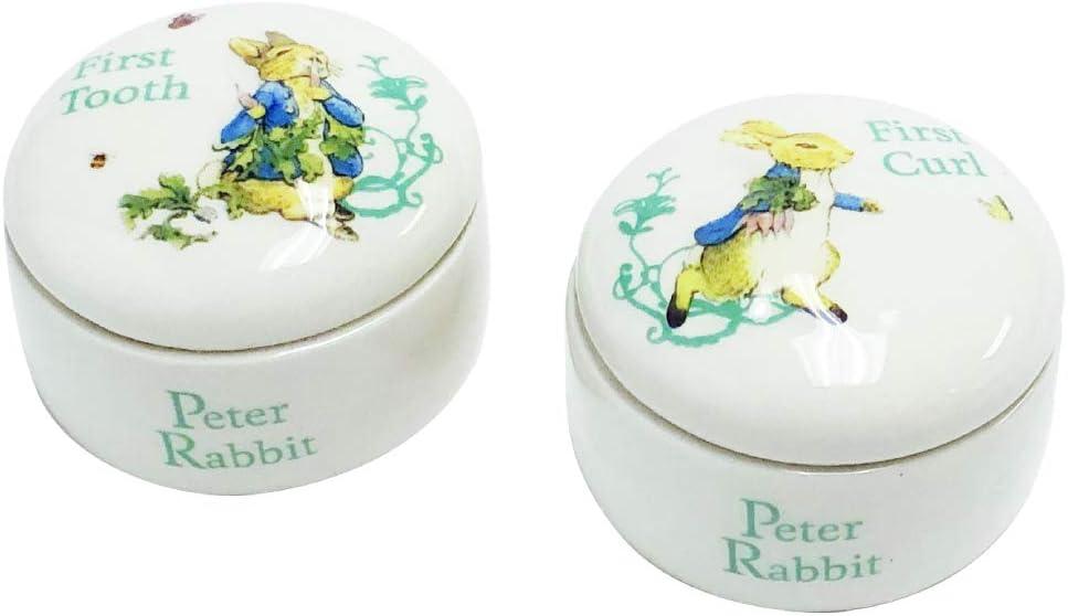 Juego de cajitas para el Primer Diente y el Primer tirabuz/ón Beatrix Potter