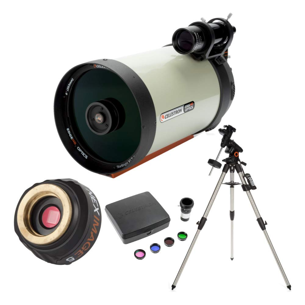Celestron Advanced VX 8'' EdgeHD SCT GoTo Telescope with Deluxe Mars Eyepiece and NexImaging Kit by Celestron