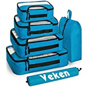 #LightningDeal Veken 6 Set Packing Cubes, Travel Luggage Organizers with Laundry Bag & Shoe Bag