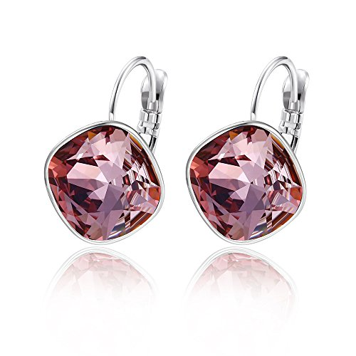 Xuping Sparkly Thanksgiving Hoop Earrings Crystals from Swarovski Women Girls Jewelry Halloween Gifts (Crystal Antique - Antique Crystal Pink