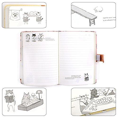 hot sale Cute dibujos animados gato diario cuaderno Diario de viaje ...