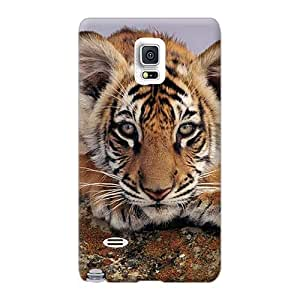 Protector Hard Phone Cases For Samsung Galaxy Note 4 (Sow26616fcmo) Unique Design High Resolution Tiger Pictures