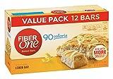 Fiber One 90 Calorie Bar, Lemon, 12 Count,Pack of 4