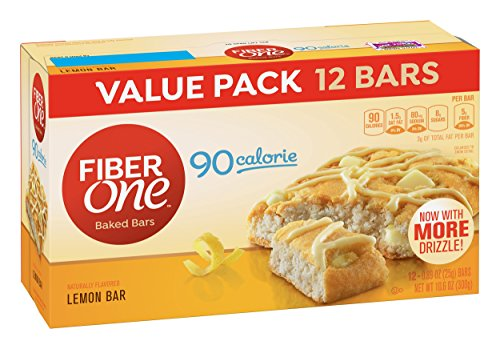 Fiber One 90 Calorie Bar, Lemon, 12 Count ,Pack of 4