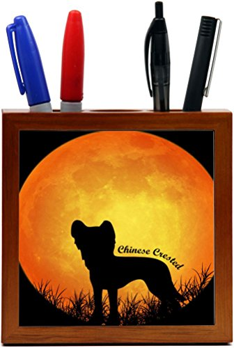 Rikki Knight Chinese Crested Dog Silhouette by Moon Desig...