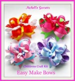 Kids Craft,holiday,how to Make Hair Bows Instructions Assembly Kit EasyMakeBows by Michelle Garrett,ages 7-9 & Up.great Gift Ideas.