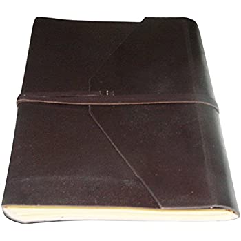 Handmade Leather Journal Notebook Diary Blank Pages Dark Brown Color 8x6