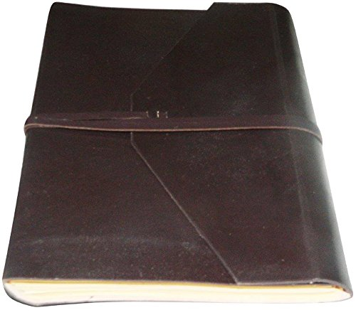 Handmade Leather Journal Notebook Diary Blank Pages Dark Brown Color 8×6