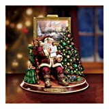 Thomas Kinkade The Joy Of Christmas Collectible Santa Claus Animated Musical Figurine by The Bradford Exchange