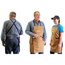 Woodworker's apron: Designed specifically for woodworking, this handy apron features two large deep pockets at the front, a chest pocket, a tool pouch and a screw pouch.