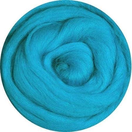 Merino Wool Roving for Felting 1 Ounce Turquoise Green