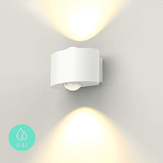 FUSSEN Lampada Da Parete Interno/Esterno Moderna Applique Da Parete LED  IP44 Impermeabile Luci Da Parete Alluminio Su Giù Applique per Portico  Cortile ...