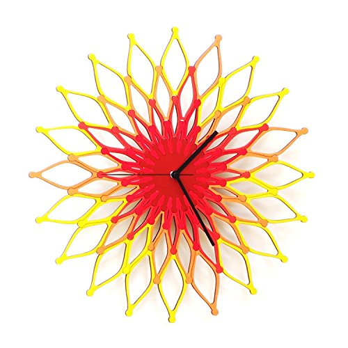 Fireworks ILarge Wooden Wall Clock, Sunburst Clock - sun wall decor