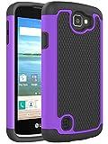 LG K4 Case - LG Spree Case - LG Optimus Zone 3 Case - NOKEA [Shock Absorption] Full Body Hybrid Dual Layer Armor Defender Protective Case Cover for LG K4 LTE LG Spree LG Opitmus Zone 3 (Purple)