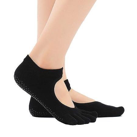 Calcetines de yoga Señoras resbaladizas Calcetines Traseros ...