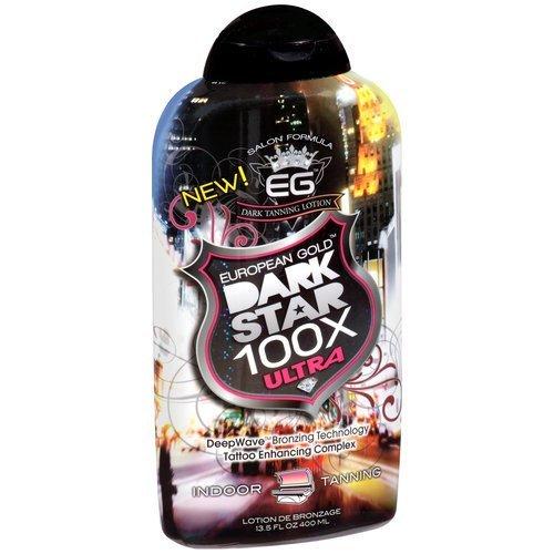 European Gold Dark Star 100X Ultra Indoor Tanning Deep Wave Bronzing Technology Tattoo Enhancing Complex 13.5 Ounce