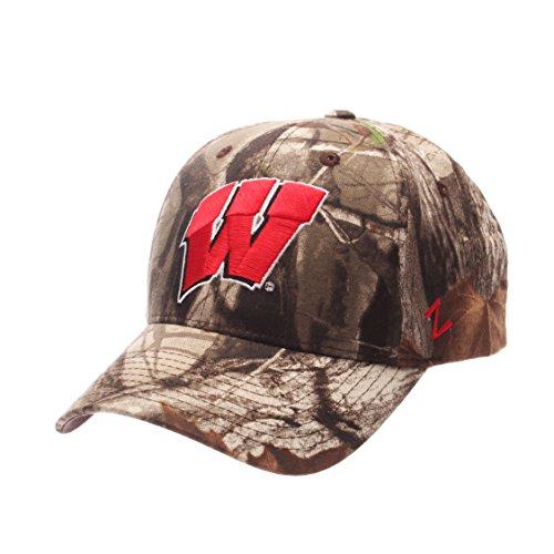 NCAA Wisconsin Badgers Men's Staple Cap, Adjustable, Camouflage (Wisconsin Badgers Camo)