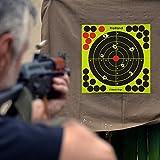 Shooting Splatter Targets-8 inch Self Adhesive Paper Reactive Target Stickers for Gun Rifle,Pistol,BB Gun,AirSoft,Pellet Gun,Air Rifle