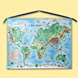 Personalized World Map Canvas Scroll
