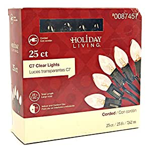 Holiday Living 25ct. C7 Clear Lights