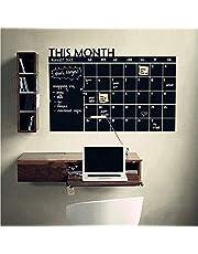 Monthly Calendar Chalkboard Wall Sticker Removable MEMO Blackboard Vinyl Stickers Office School Black Board