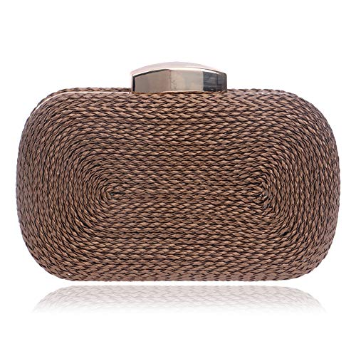 Evening Clutch Weaving F Wallet Storage Birthday Party Square LF Party By Women's Wedding Clamshell Bags Banquet Makeup RLF Evening Dress gwqtfId