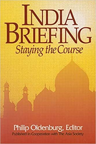 Book India Briefing: Staying the course (Asia Society Country Briefing) (1995-10-07)