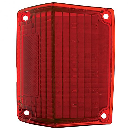 United Pacific CTL7072LED-L 1970-72 El Camino & Station Wagon Red LED Tail Light Lens, L/H ()