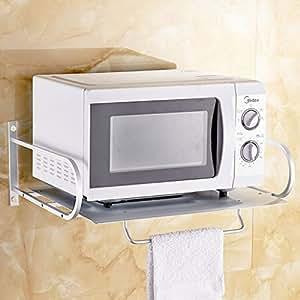 Amazon Com Wall Mounted Microwave Oven Shelf Bracket