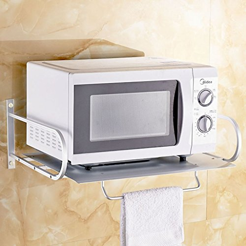 Wall mounted microwave oven shelf bracket Kitchen stand r...
