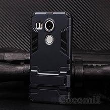 LG Nexus 5X Case, Cocomii Iron Man Armor NEW [Heavy Duty] Premium Tactical Grip Kickstand Shockproof Hard Bumper Shell [Military Defender] Full Body Dual Layer Rugged Cover Google (Black)