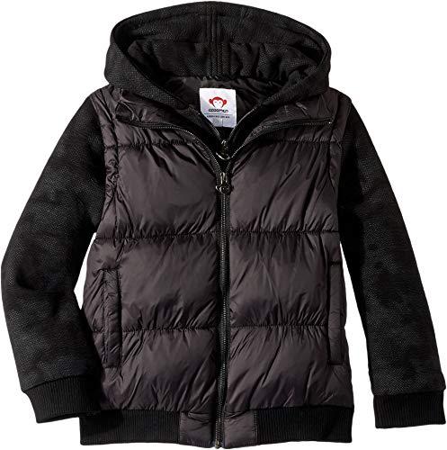 Appaman Kids Baby Boy's Removable Long Sleeve Puffer Vest Turnstile Jacket (Toddler/Little Kids/Big Kids) Black 4 US Toddler -