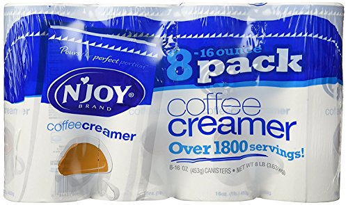N'JOY Coffee Creamer - 8/16oz Canisters (Pack of 2) - Canister Creamer