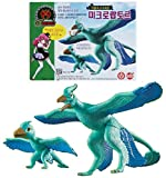 Dino Mecard Double Figure Set Microraptor and Tinysour MICRO Turquoise Color