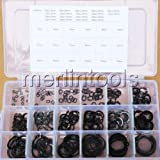 Nut & Bolt - 3mm - 26mm Steel External Circlip Retaining Ring Snap Ring Assortment Kit
