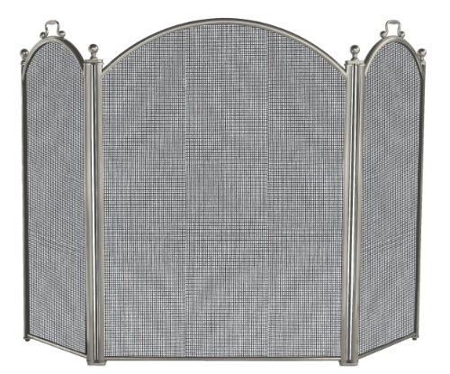 (Uniflame 3 Panel Satin Pewter Screen)