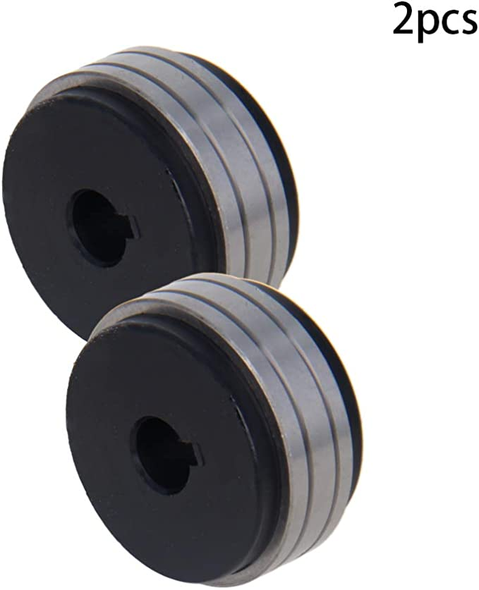 Utoolmart Drive Roll Kit 30mm Outer Diameter 22mm Bore 10mm Thickness Metal V-Groove Mig Welder Wire Feed Drive Roller Roll Parts 0.8//1.0 for Millermatic 2pcs