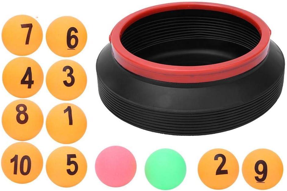 Bolas de números de lotería con Cubo Plegable Bolas de números de 12 Piezas Bolas de rifa 1-10 Bolas y 2 Bolas de Colores Juguete de descompresión para Actividades recreativas