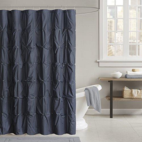 - INK+IVY Masie Cotton Shower Curtain Navy 72x72