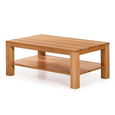 Marque Amazon Alkove Hayes Table Basse En Bois Massif Avec étagère Rectangulaire C Ur De Hêtre