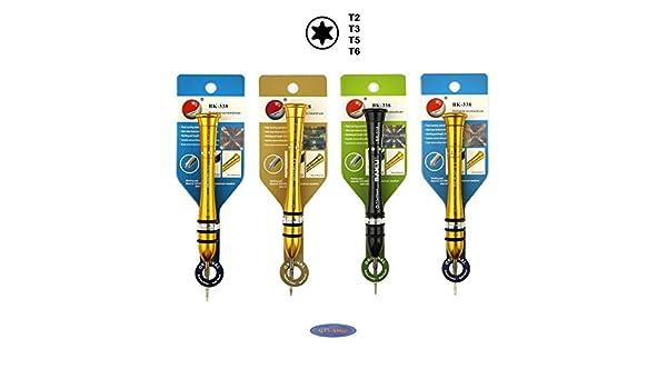 Conjunto de 4 Torx T2, T3, T5, T6 destornillador para la electrónica ...