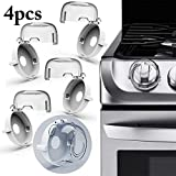 Stove Safety Covers,Justdolife 4PCS Stove Knob Covers Clear Universal Child Kitchen Proof Stove Gas Knob Covers Stove Knob Guards