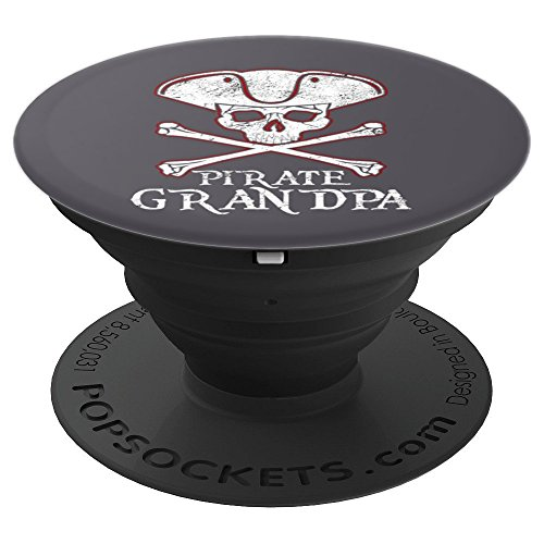 PIRATE GRANDPA Funny Halloween Design   Captain Art - PopSockets Grip and Stand for Phones and Tablets for $<!--$14.99-->