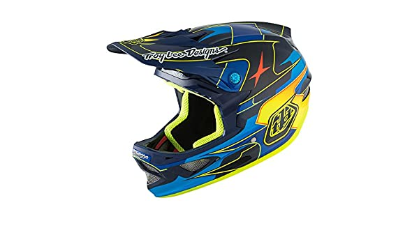 Amazon.com: Troy Lee Designs D3 Carbon MIPS Helmet Render Navy, M: Sports & Outdoors