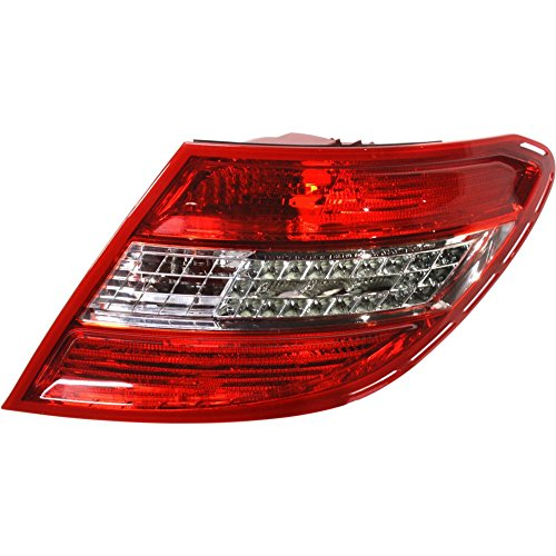 (Tail Light for C-CLASS 08-11 Right Side Lens and Housing LED w/Curve Lightning USA Type)