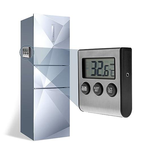 Frigorífico termómetro, uniqee magnético Digital nevera congelador ...