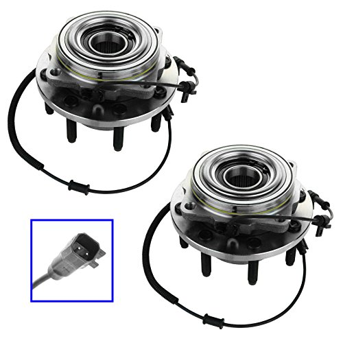 TRQ Wheel Bearing Hub Assembly Front Pair for Ford F250 Super Duty Truck F350 Super Duty Truck - F250 Front Wheel Bearing