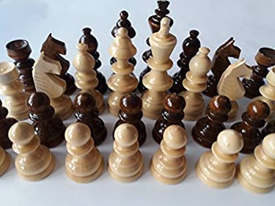 Handmade New Big,Huge Beautiful,Special Hand spindled Wooden Chess Pieces,King Is 4.72 In
